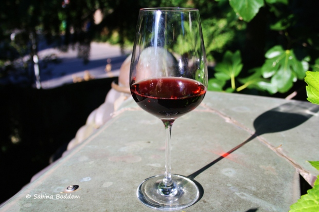 Glas Rotwein - Stillleben