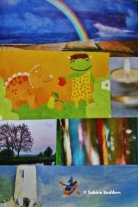 Collage als Deko für einen Buchdeckel