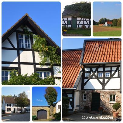 Fachwerkhäuser, Gut Diepensiepen im Schwarzbachtal, Bergisches Land