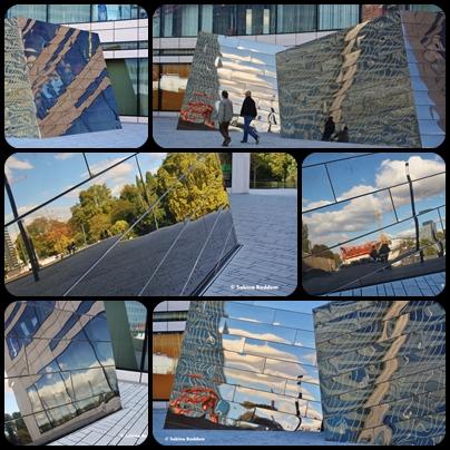 Düsseldorf, Kö-Bogen, Kunstobjekt-Spiegelwürfel, Jan-Wellem-Platz