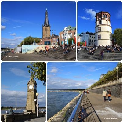 Düsseldorf, Altstadt, Rheinpromenade