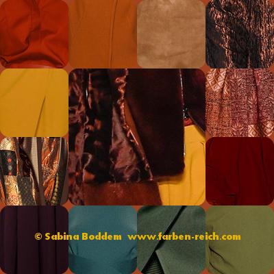 Farben für den Herbsttyp - Trendfarben 2015/16