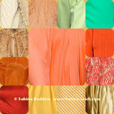 Farben für den Frühlingstyp - Trendfarben 2015/16