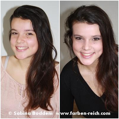 #Wintertyp vor und nach der #Farbberatung, Farbenreich - Sabina Boddem