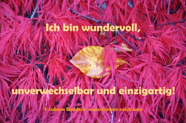 #Affirmation - Ich bin #wundervoll, #unverwechselbar und #einzigartig
