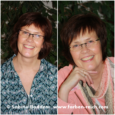 Frühling-Herbst-Mischtyp vor und nach der Farb- und Stilberatung