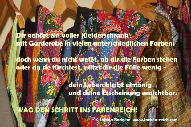 Wag den Schritt ins Farbenreich - Farbberatung, Stilberatung, Sabina Boddem