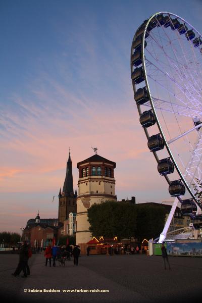 #Schlossturm #Burgplatz #Düsseldorf #Riesenrad