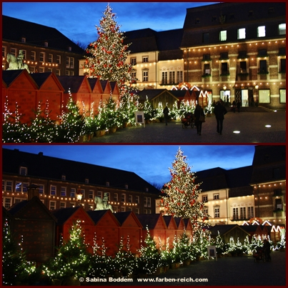 Düsseldorfer Altstadt in der Adventszeit