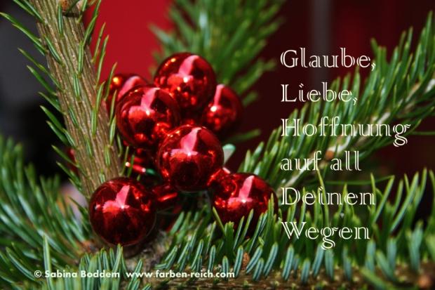 Glaube, Liebe, Hoffnung, Advent, Weihnachtszeit, Grußkarte, Farbenreich