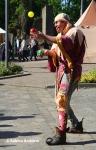 Gaukler auf dem Mittelaltermarkt