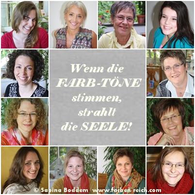 Wenn die FARB-TÖNE stimmen, strahlt die SEELE www.farben-reich.com
