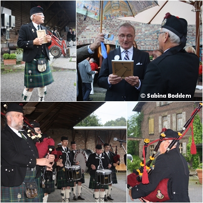 The Rhine Area Pipes and Drums Düsseldorf gratulieren Lothar Boddem zum 70. Geburtstag