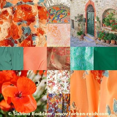 Modefarbtrends 2017 für den Frühlingstyp, Farbenreich-Sabina Boddem, Farbberatung, Stilberatung