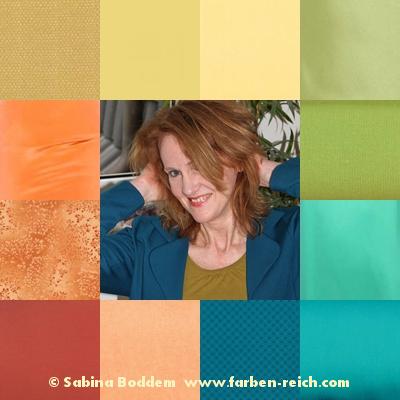 Frühlingstyp mit Tendenz zum Frühling-Herbst-Mischtyp mit typgerechten Farben